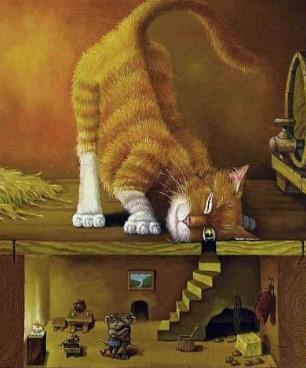 Как кошка, мышь и собака врагами стали (белорусская сказка)